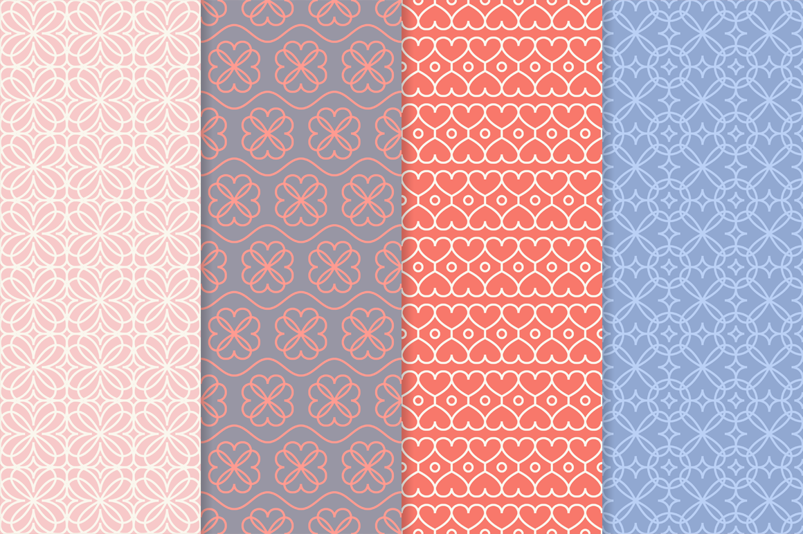 Mono Line Frames and Patterns - Set 17 example image 2