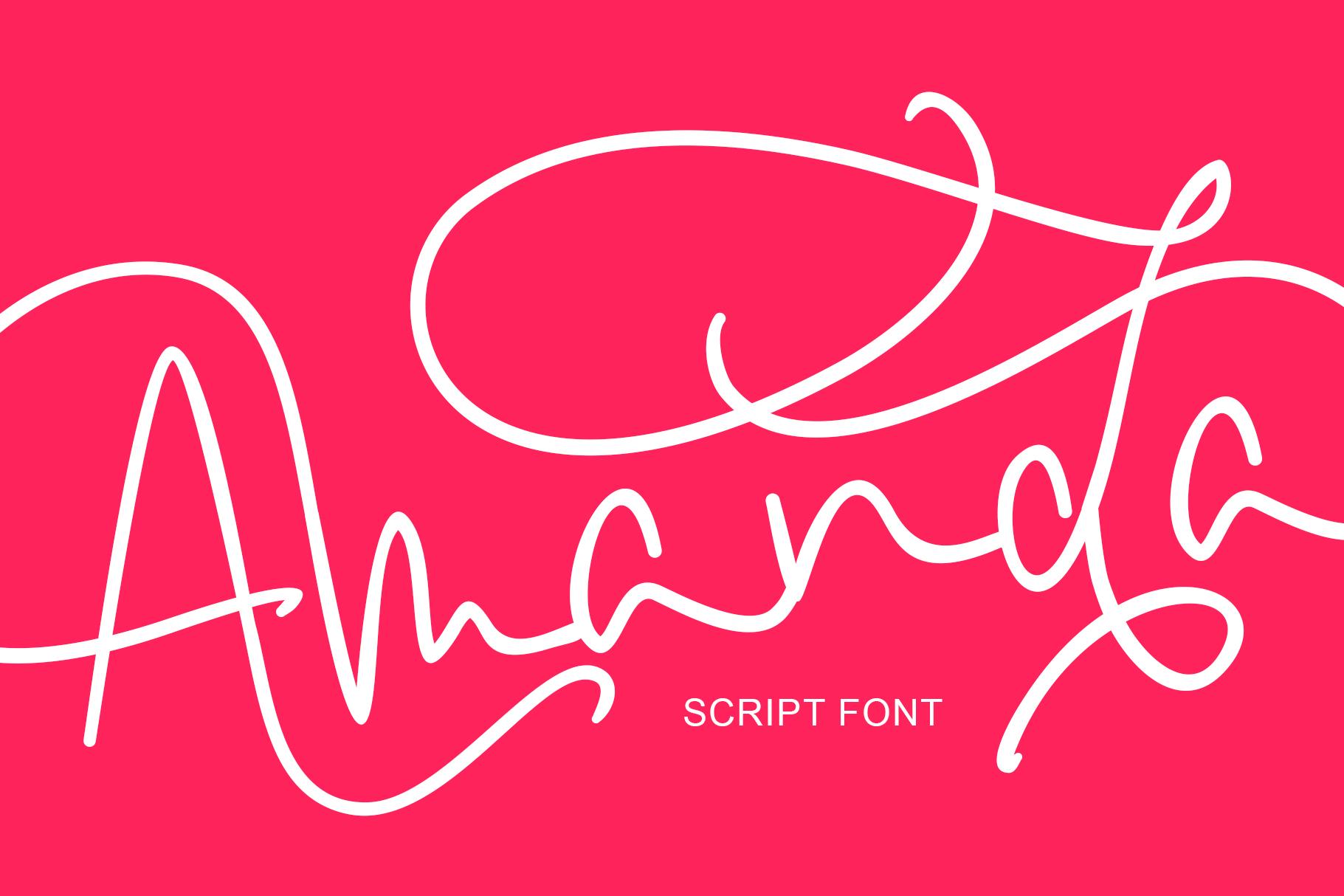 Amanda Script Font example image 2