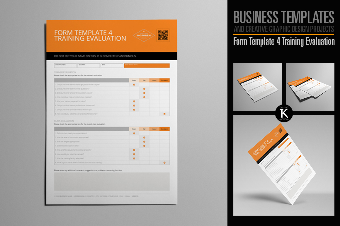Form Template 4 Training Evaluation example image 1