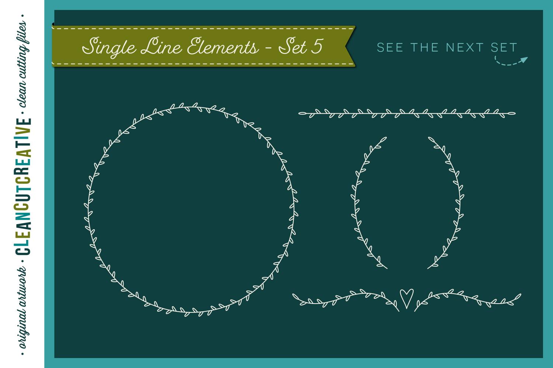 Foil Quill | Single Line | Sketch | SVG design elements example image 7