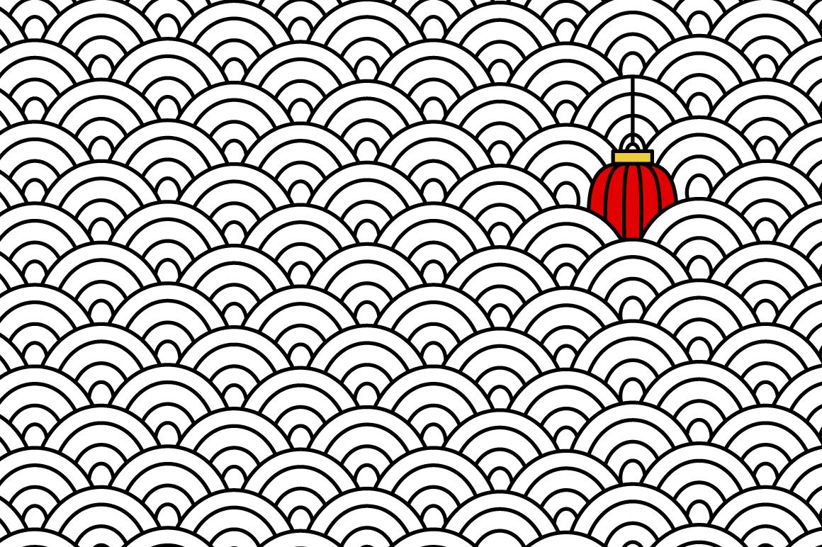 Japanese motif patterns example image 6