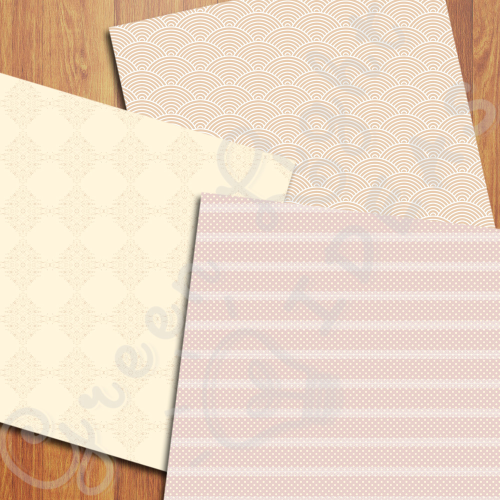 Elegant Wedding Digital Papers example image 5