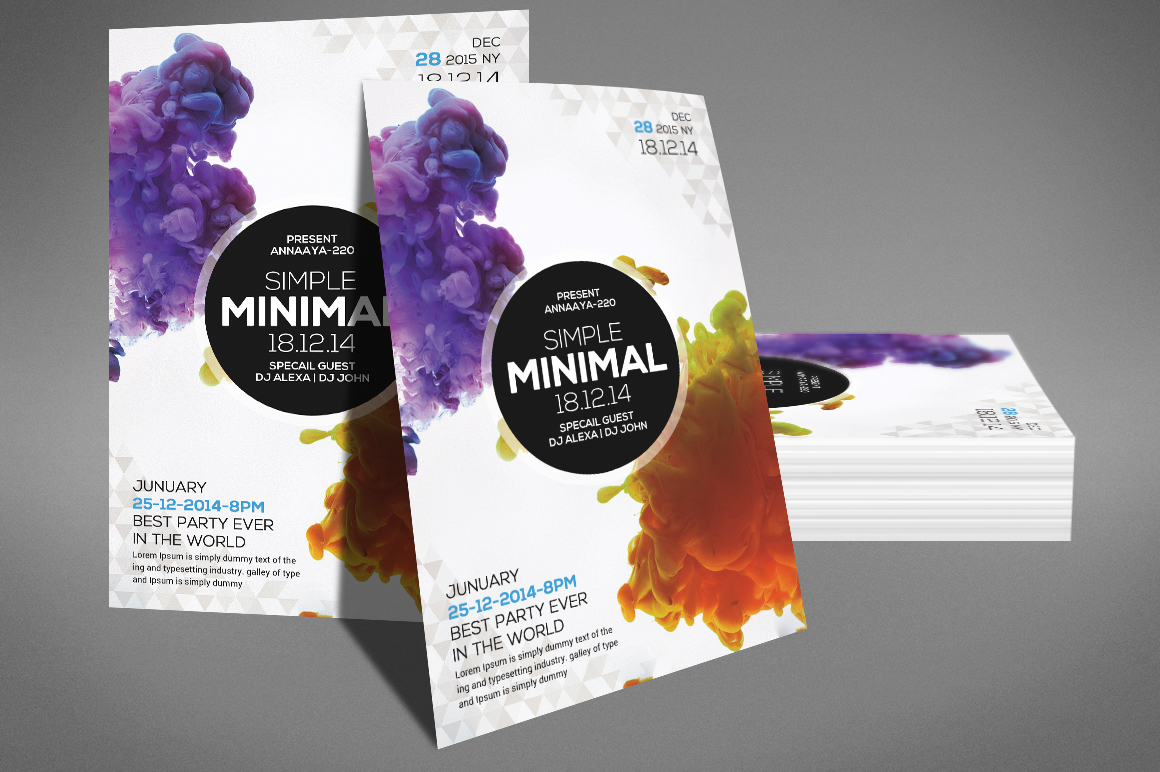 Simple minimal Flyer Template example image 3
