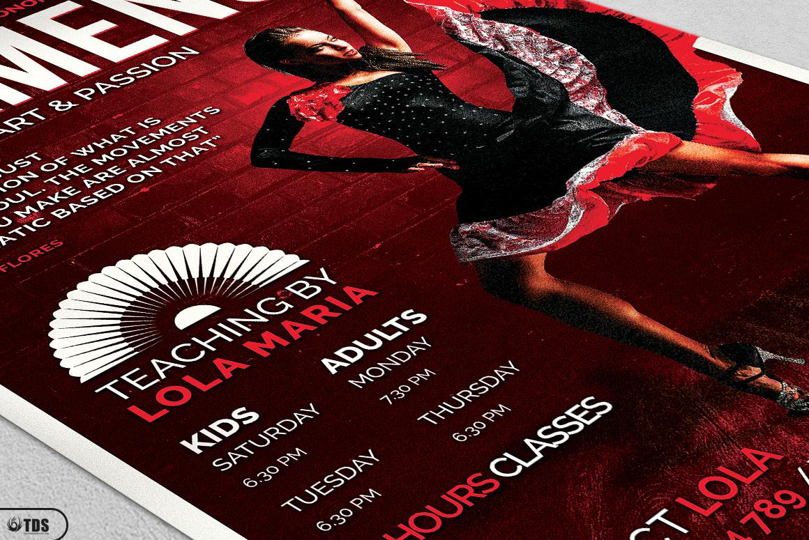 Flamenco Flyer Template V3 example image 5