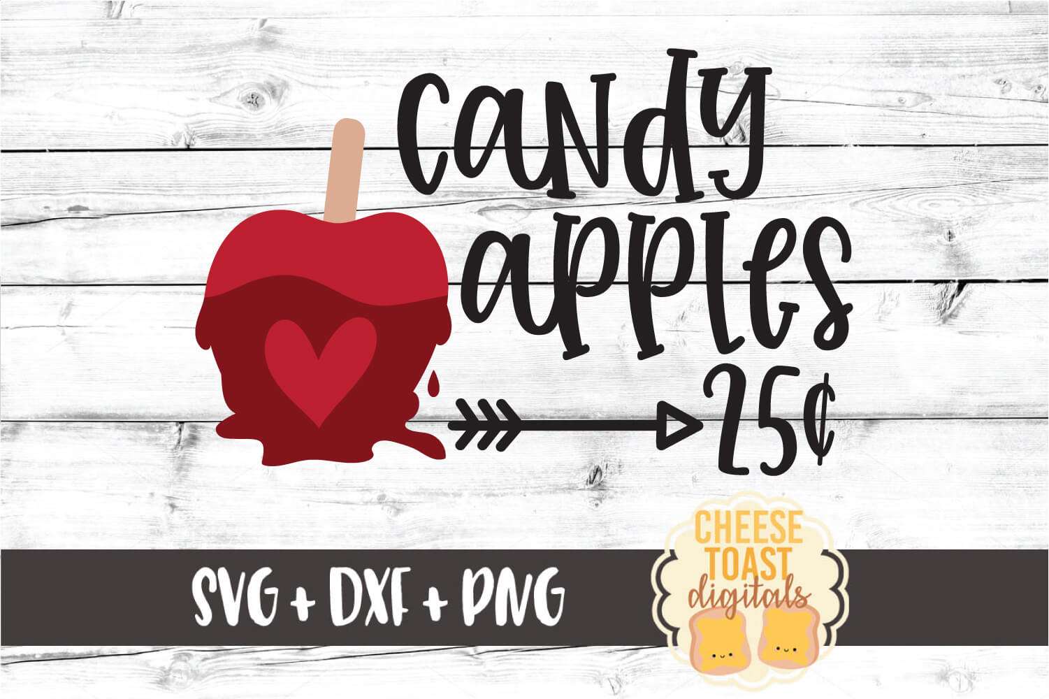 Candy Apples 25 Cents - Fall Sign SVG PNG DXF Cut Files example image 2