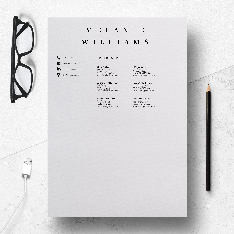 resume template minimalist