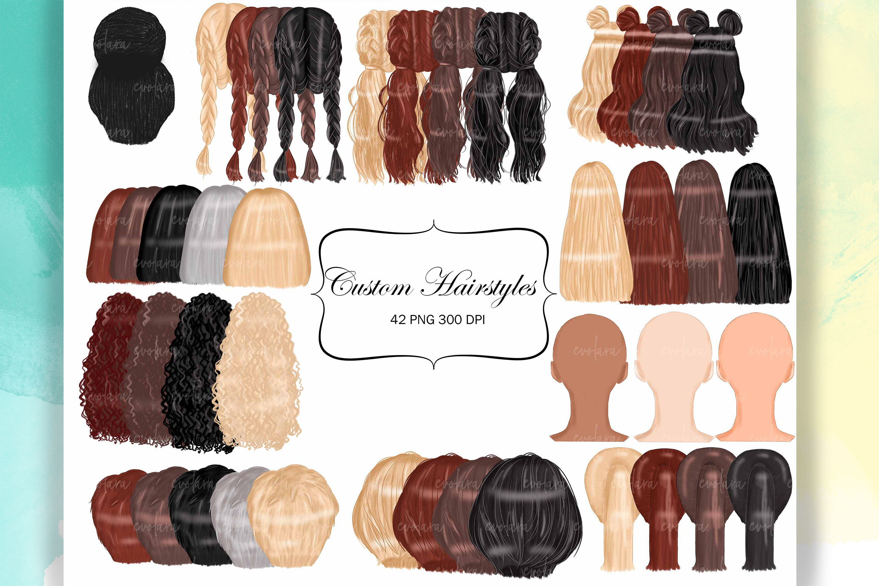 Custom Hairstyles Clipart Womans Hair Clipart Best Friends example image 1