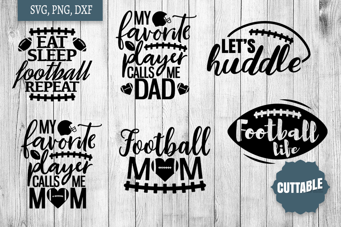 Football SVG bundle, Football player cut files, football svg example image 3