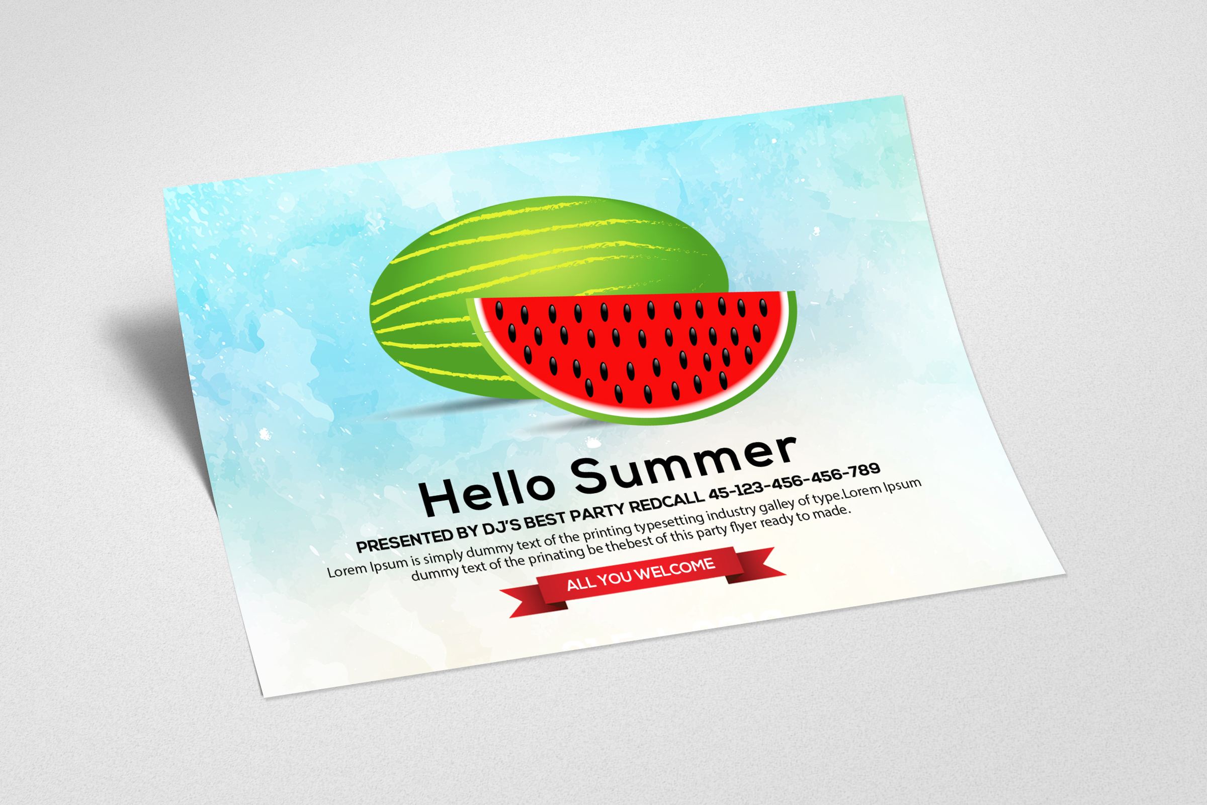 Summer Picnic Fun Party Card example image 2