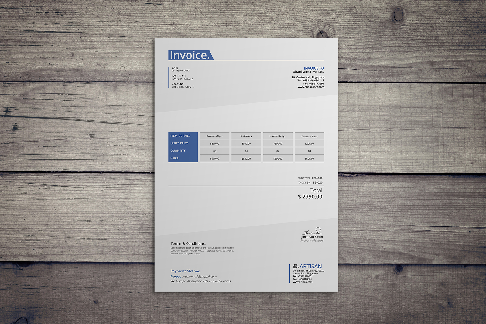 Invoice Template example image 4