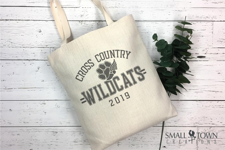 Wildcat Cross Country, Paw Print, PRINT, CUT & DESIGN example image 4