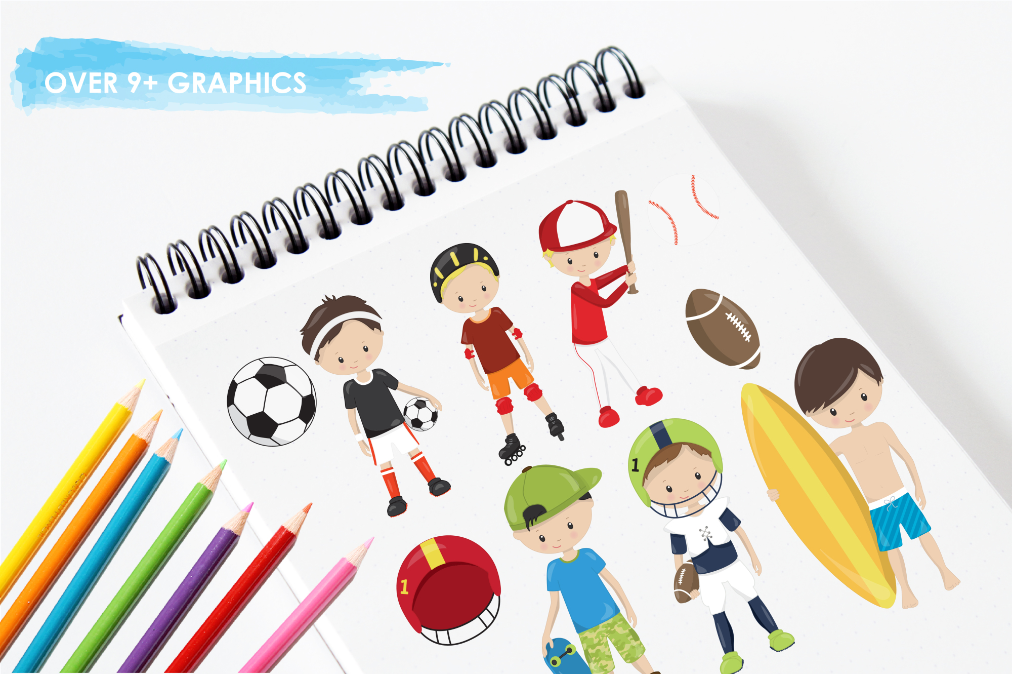 Sport Boys graphics and illustrations example image 3