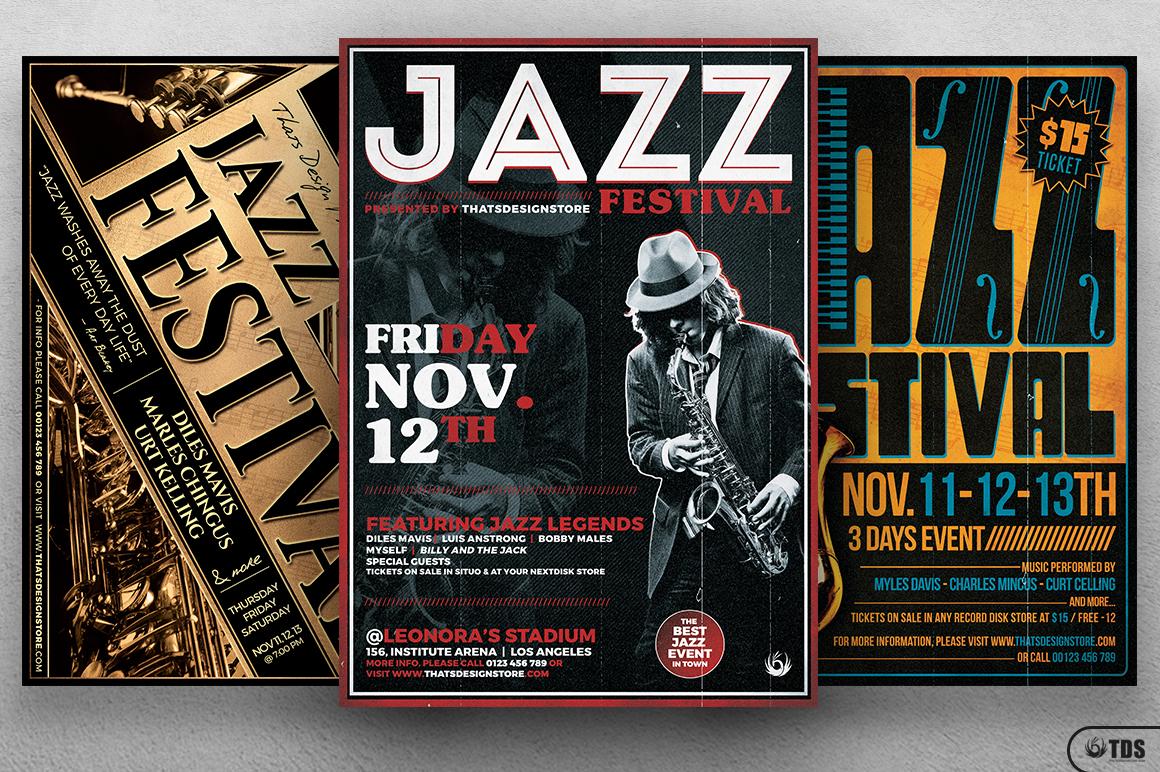 Jazz Festival Flyer Bundle V1 example image 4