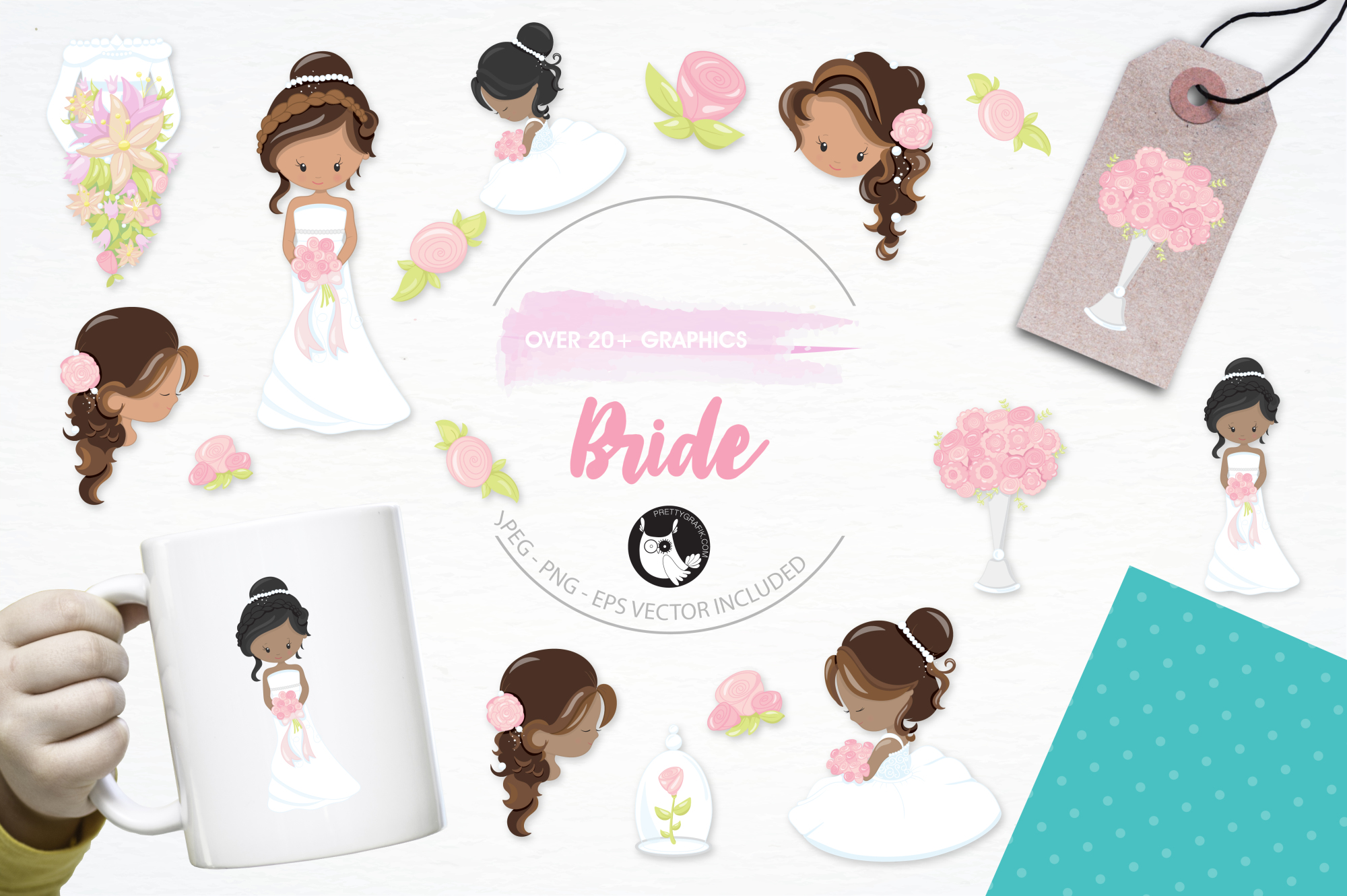 Bride  graphics and illustrations example image 1