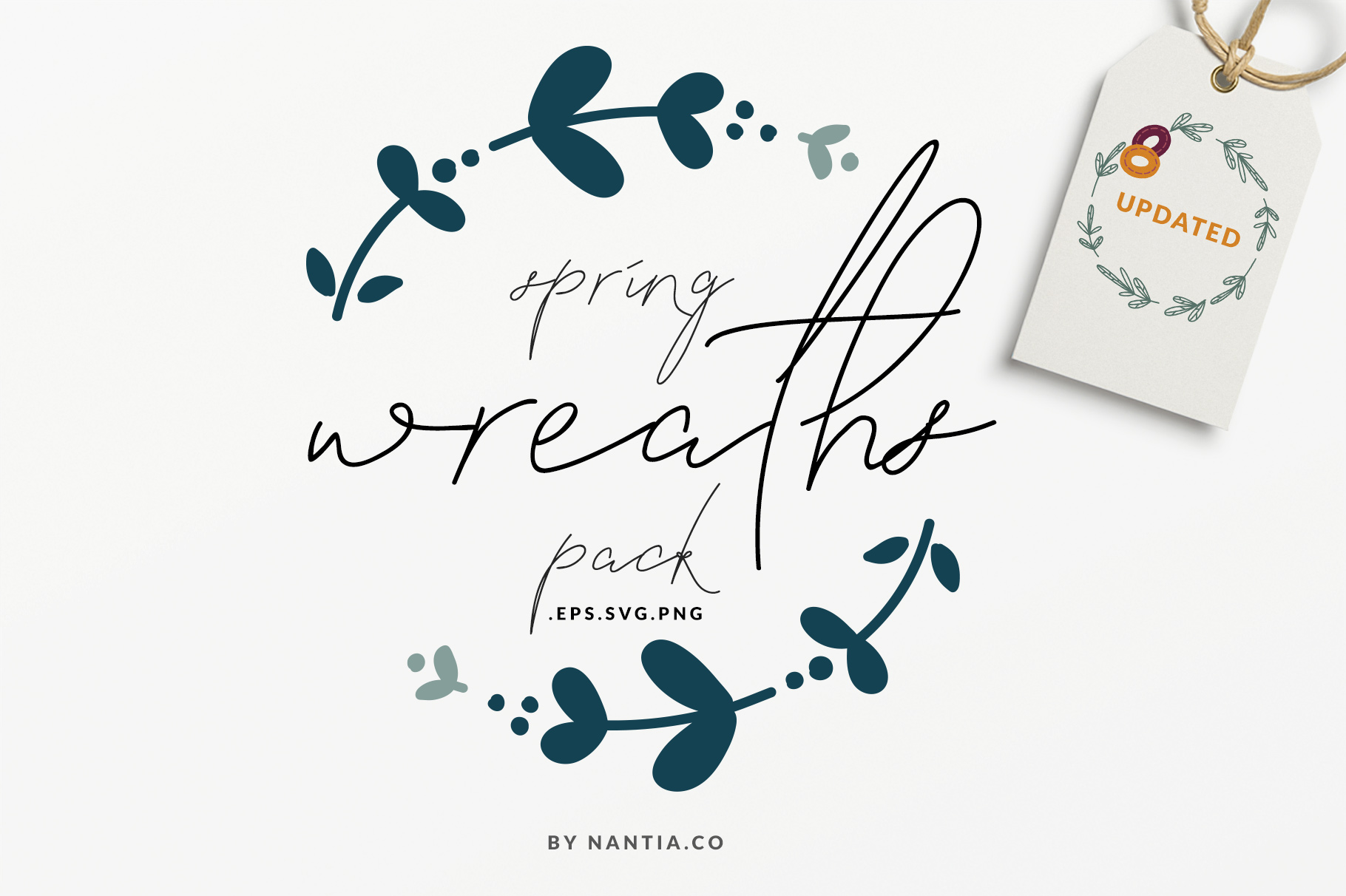 20 Spring Wreaths Vector Pack example image 1