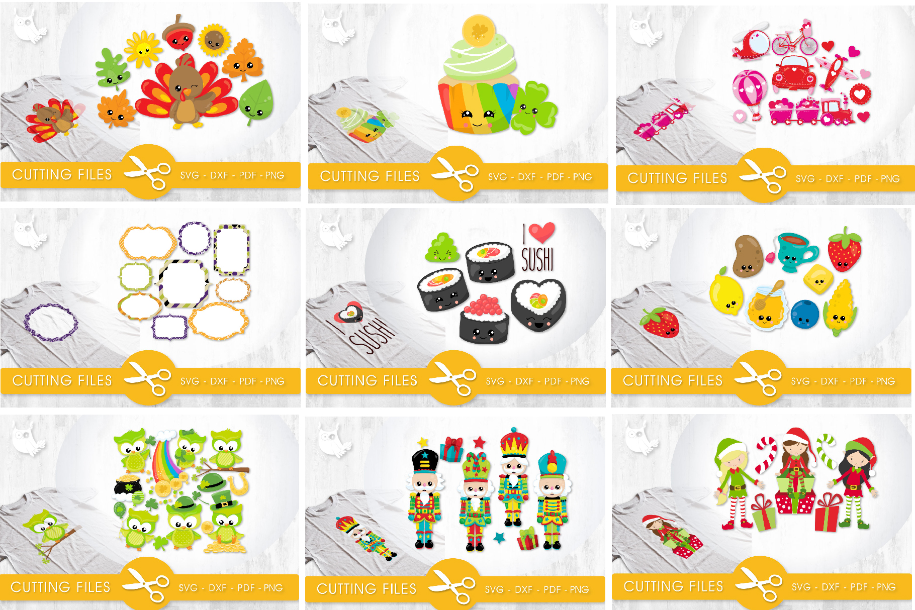 The AMAZING CRAFT BUNDLE, 1500 in 1, cutting file svg, dxf, example image 12