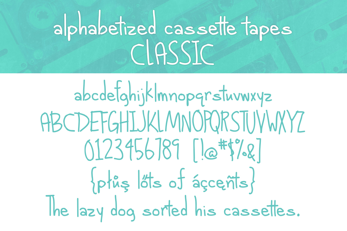 Alphabetized Cassette Tapes  example image 10