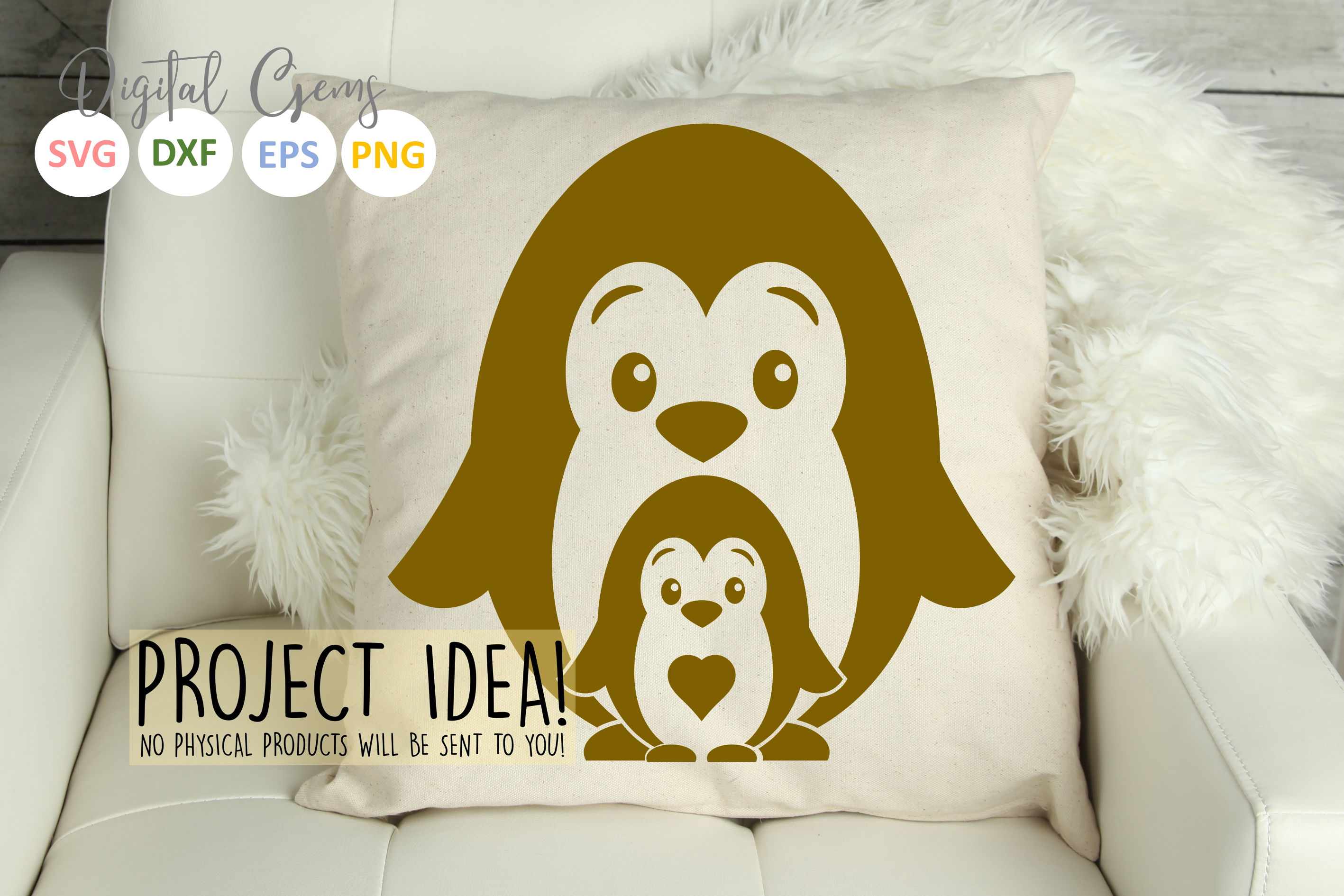 Penguin and baby design example image 7