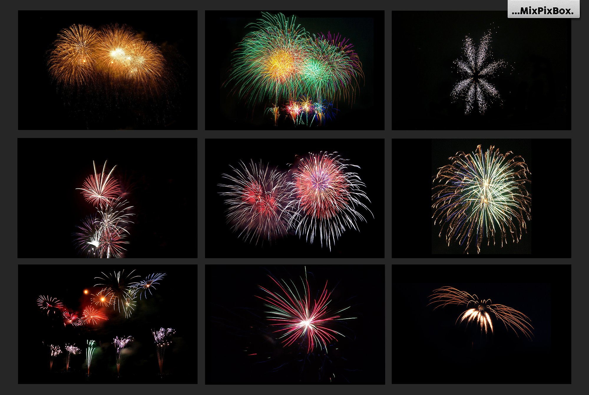 100 Fireworks Overlays example image 11
