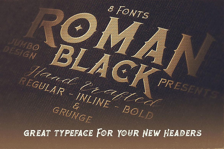 Roman Black - 8 Display Fonts example image 8