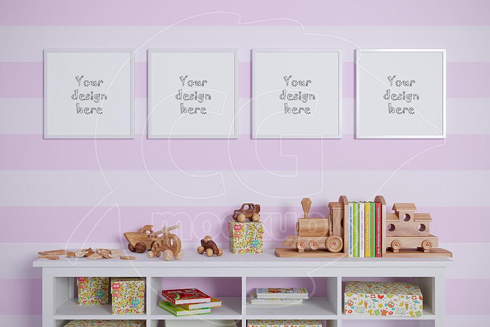 Baby room mockups set of 4 frame example image 1