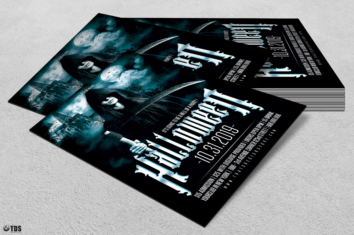Halloween Flyer Template V8 example image 4