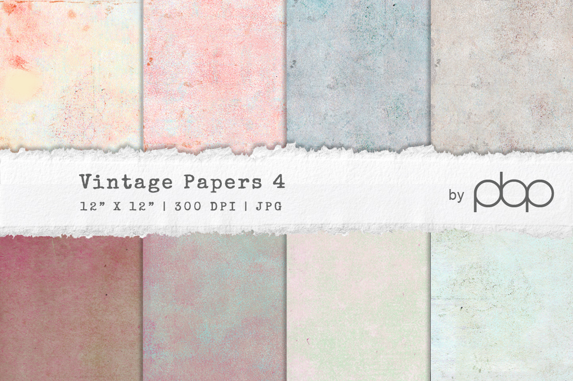 Vintage Paper Textures 4 example image 1