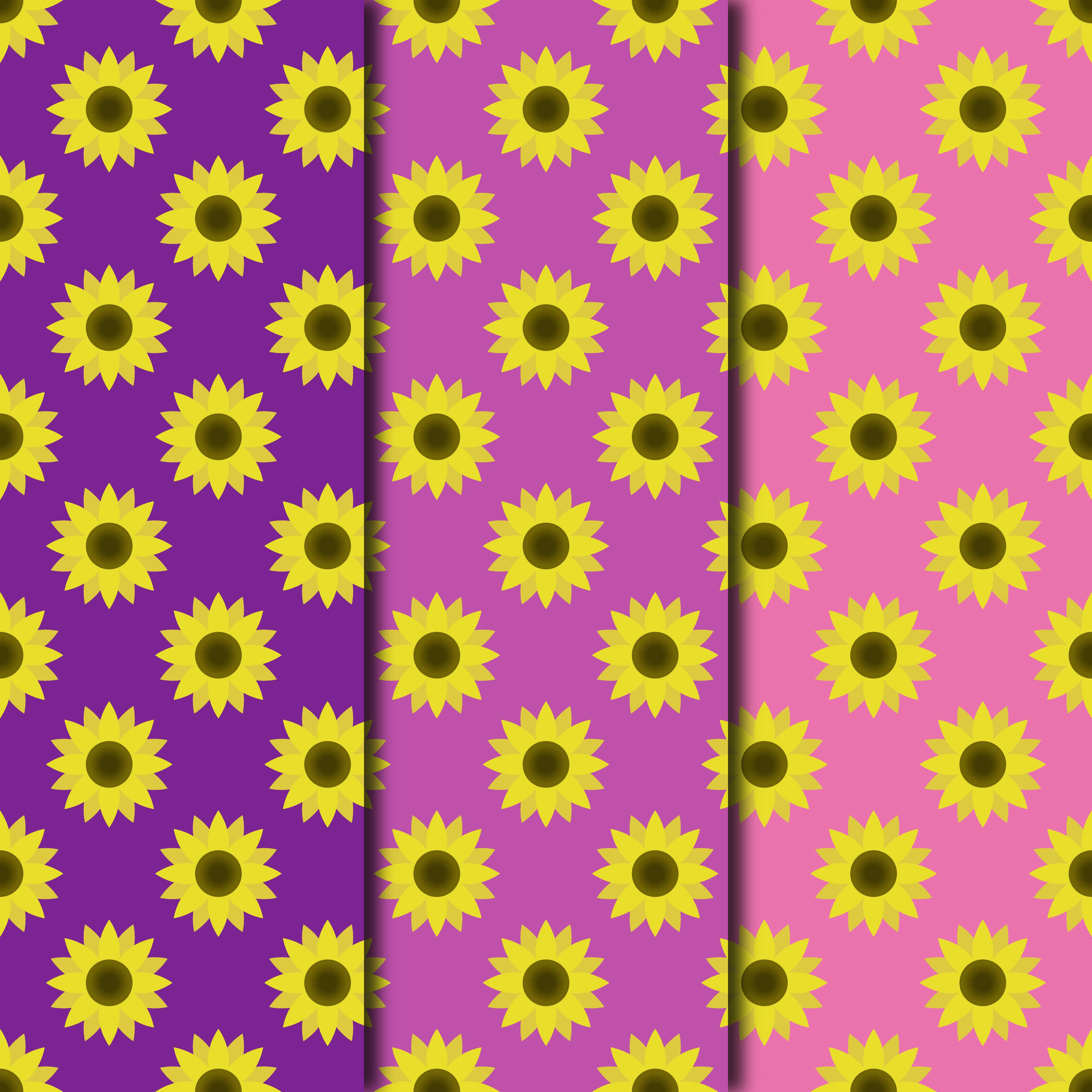 Blooming Sunflowers Digital Paper example image 3