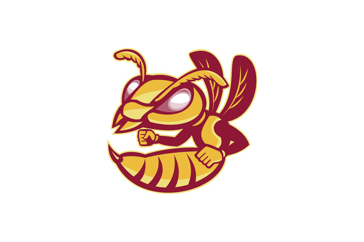 angry female hornet mascot example image 1