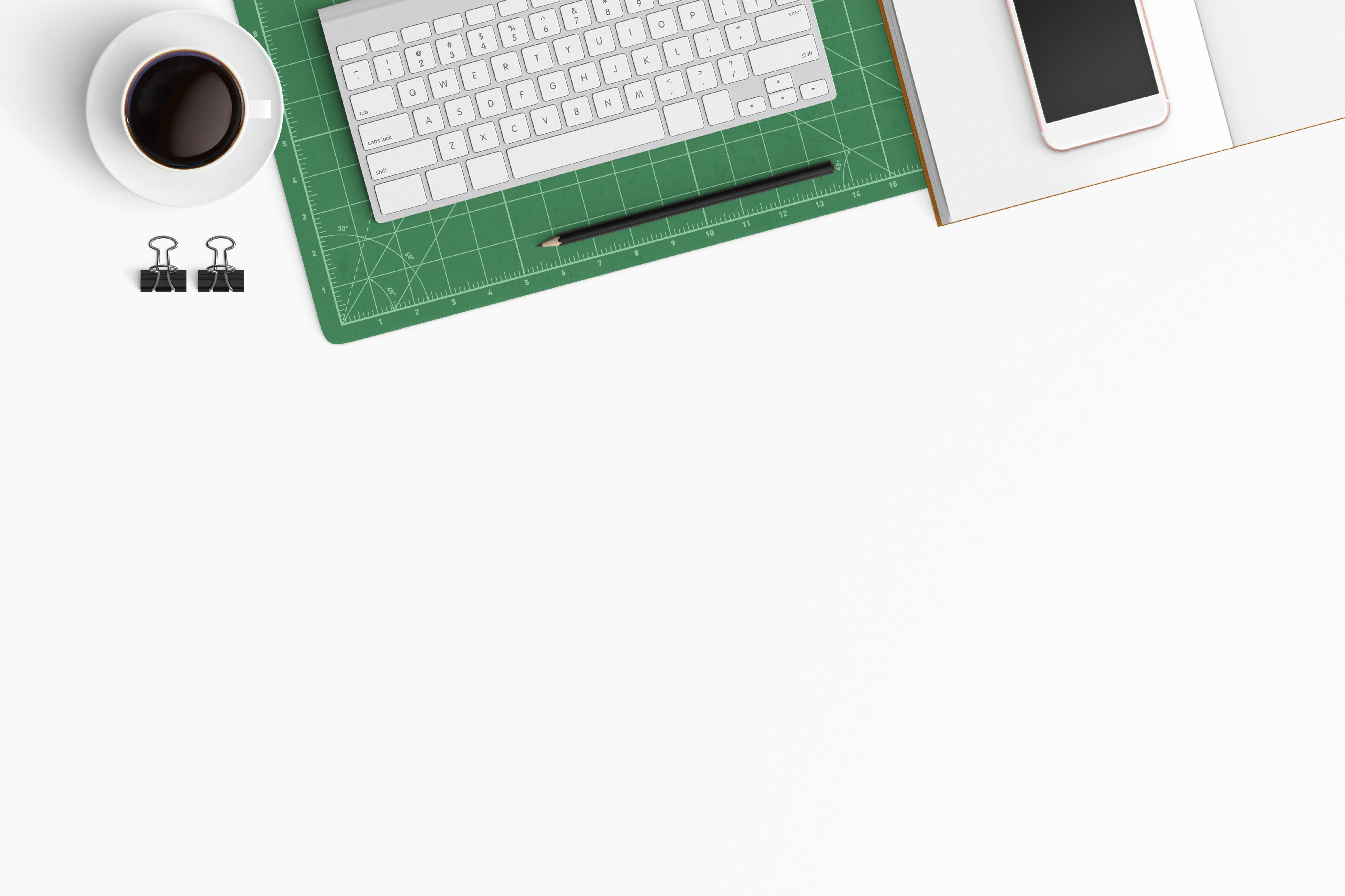 Modern workplace. Top view. Flat lay style. 21 example image 1