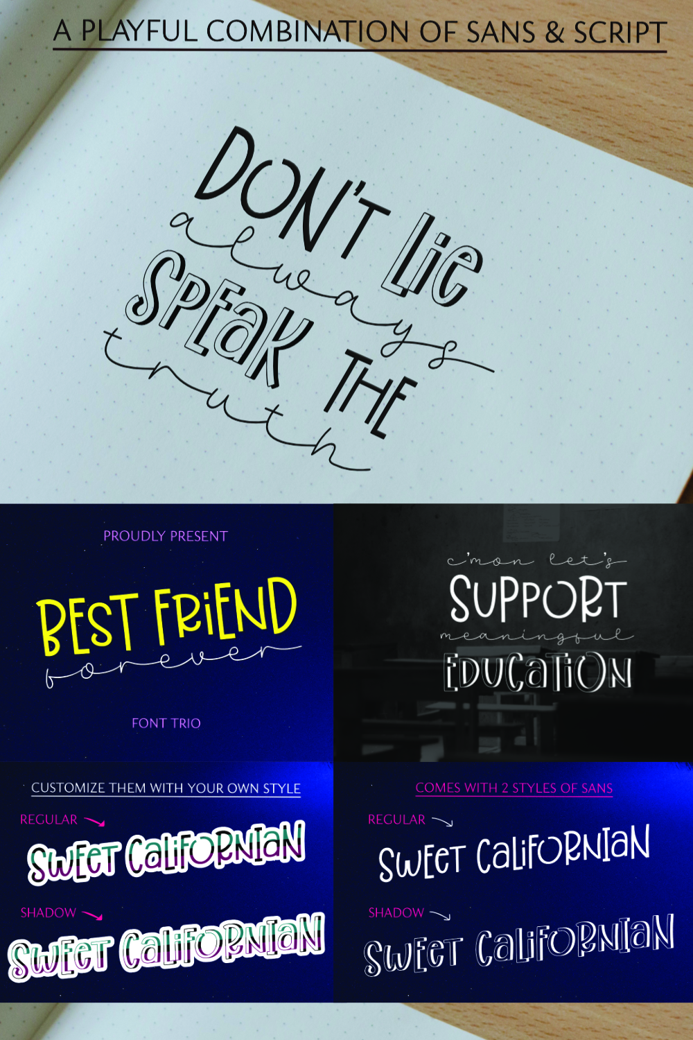 Best Friend Forever- A Casual & Playful Font Trio. example image 6