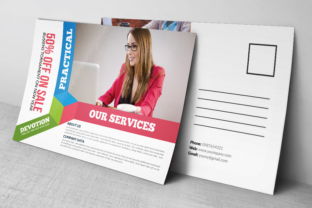 Business Postcards Templates example image 2