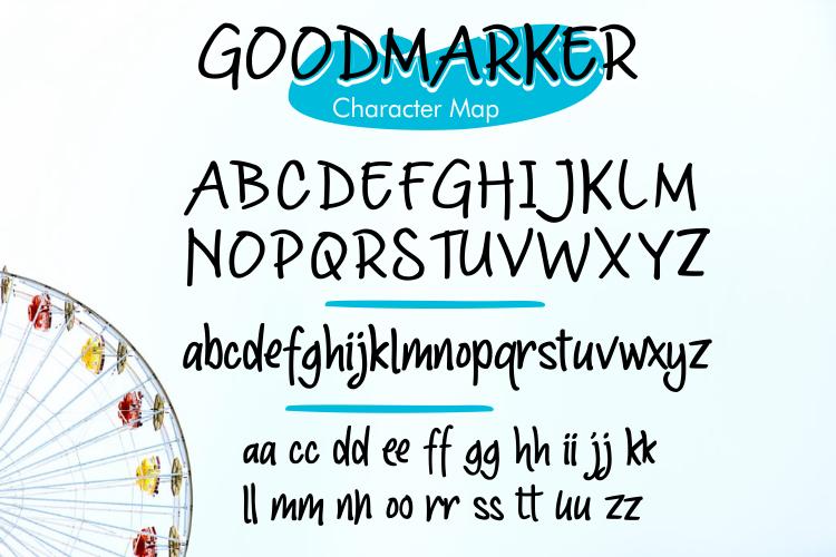 Goodmarker Handwritten Font example image 7