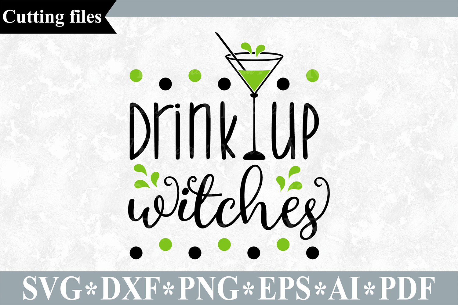 Drink up witches SVG, Halloween cut file example image 1