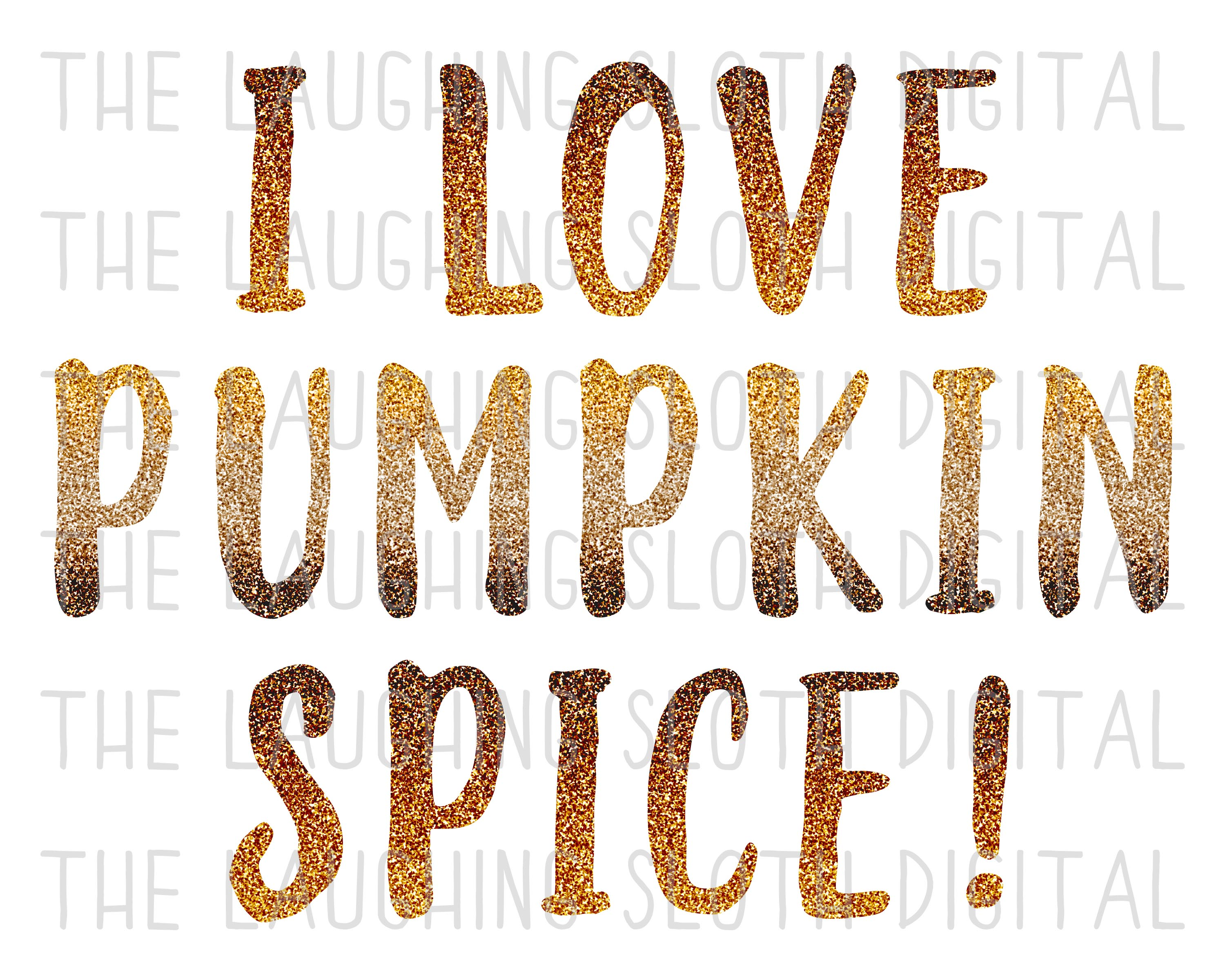 Pumpkin Spice Glitter Seamless Digital Papers Set 1 example image 6