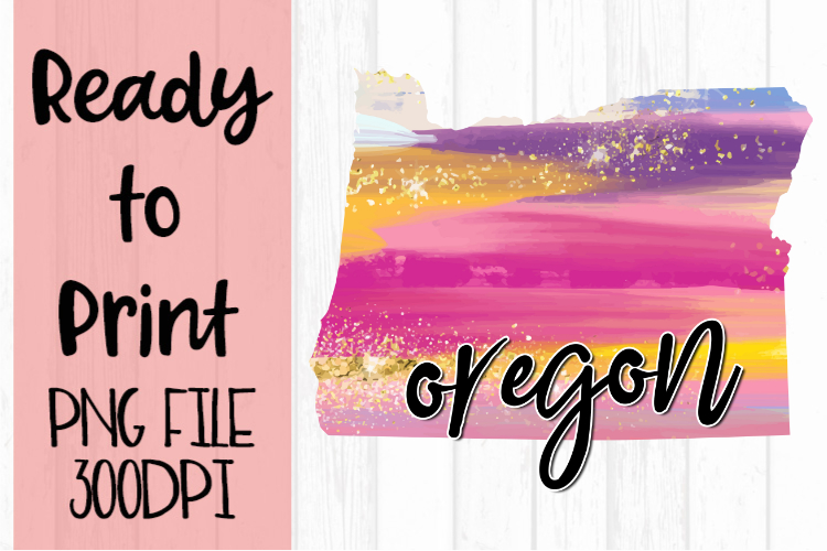 Oregon Painted States Ready to Print example image 1