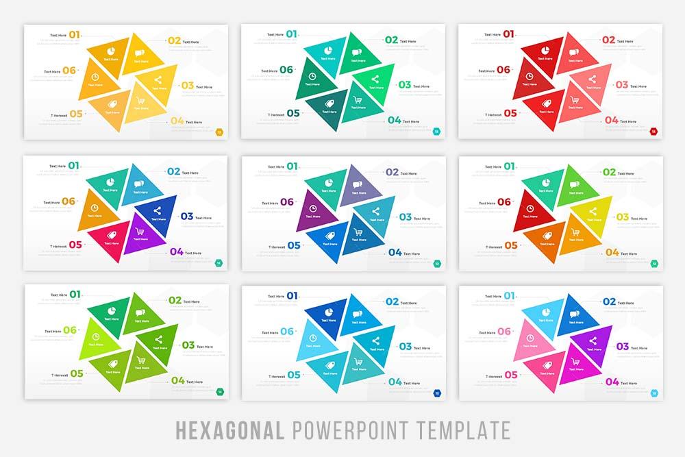 Hexagonal Powerpoint Tempalte example image 4