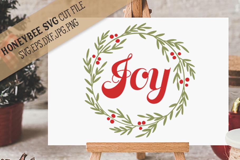 Joy Wreath svg example image 1