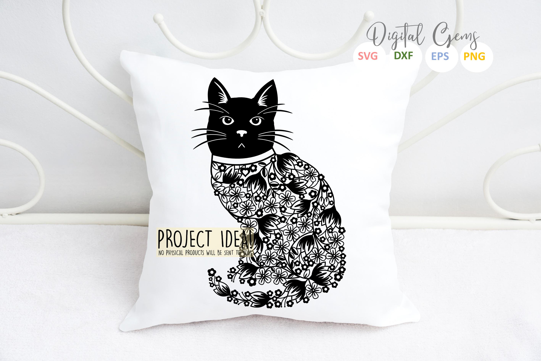 Cat paper cut Bundle. SVG / DXF / EPS / PNG example image 3
