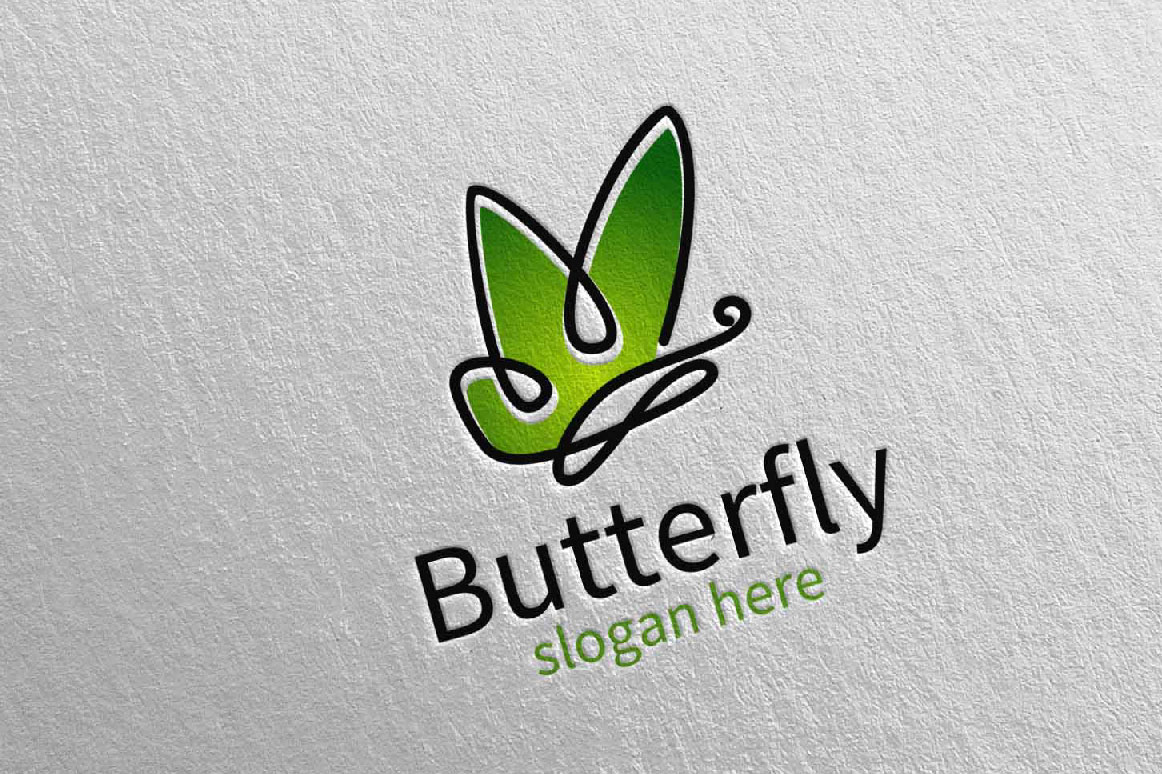 Butterfly Logo vol 15 example image 3