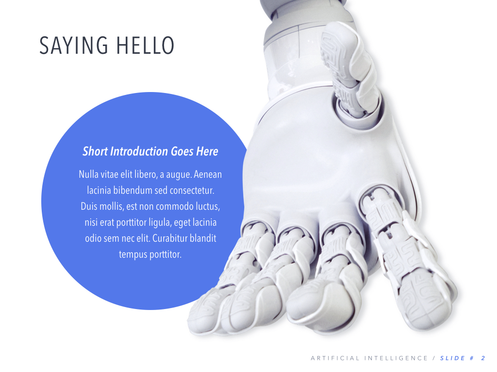 Robot Showcase PowerPoint Template example image 3