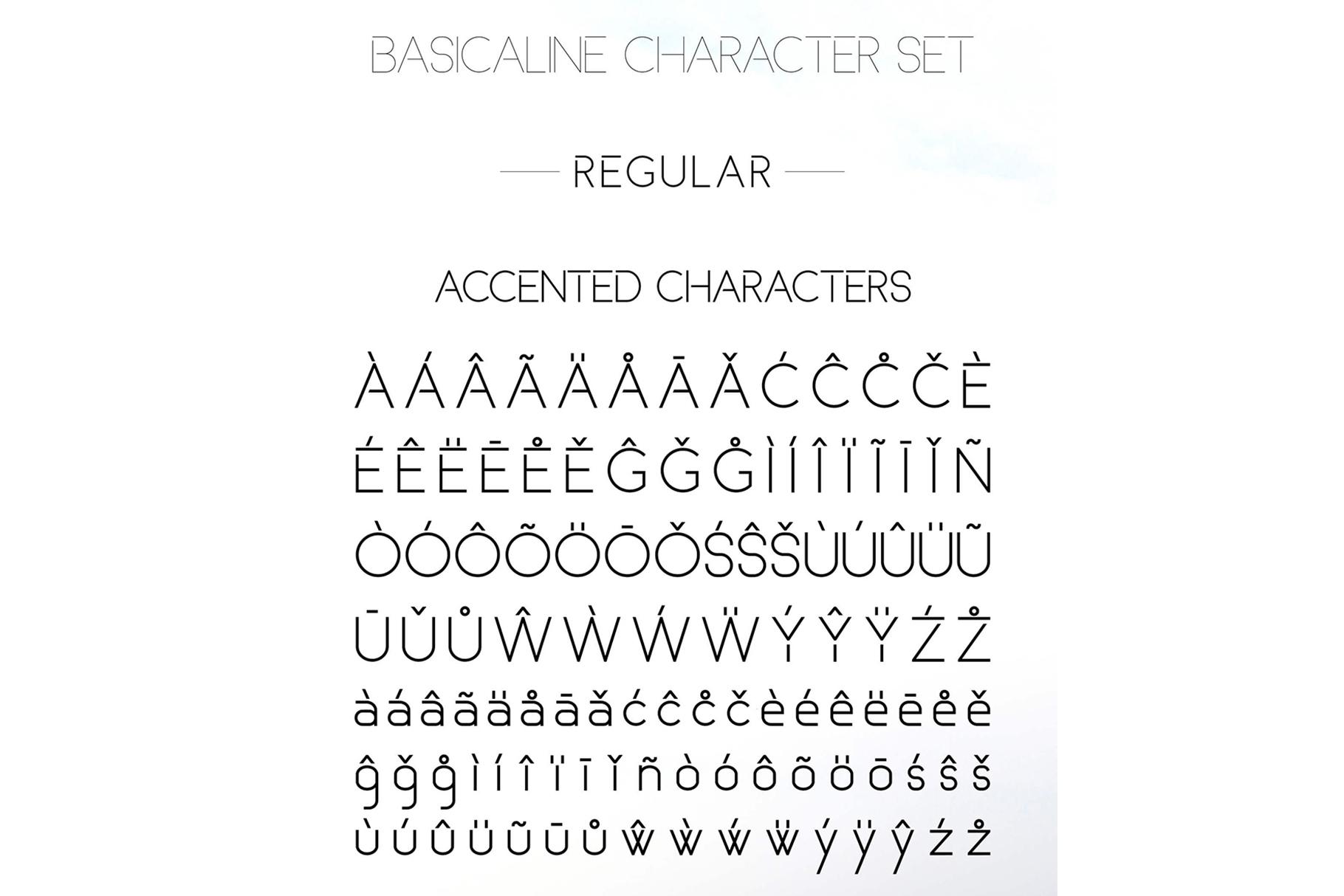 Basicaline Font Family - Sans Serif example image 12