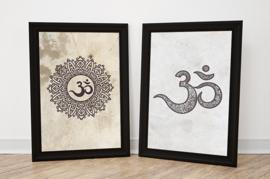 The sacred symbol Om, Mandala. Set. example image 2
