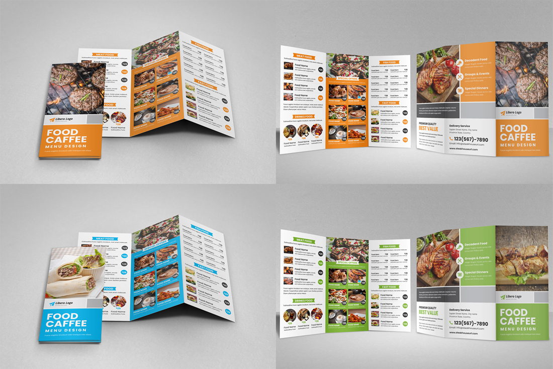 Food Menu Restaurant Brochure Bundle example image 9