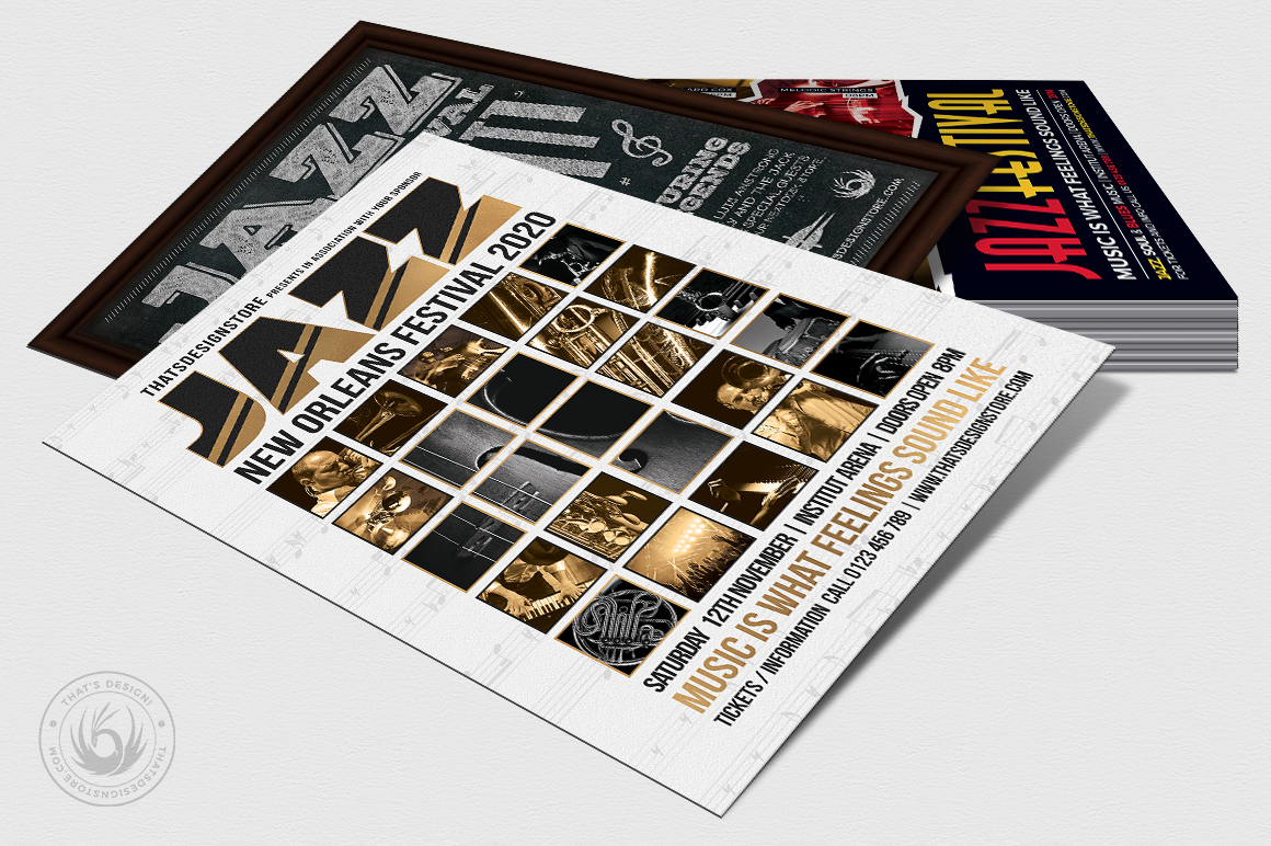 Jazz Festival Flyer Bundle V3 example image 3