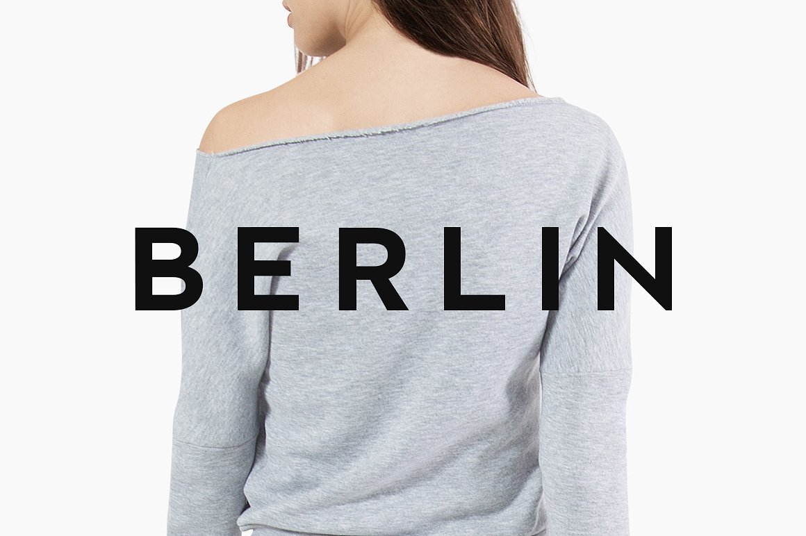 BERLIN - Minimal Typeface & Web Fonts example image 1