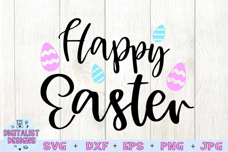 happy easter svg, easter egg svg, easter decor svg example image 3
