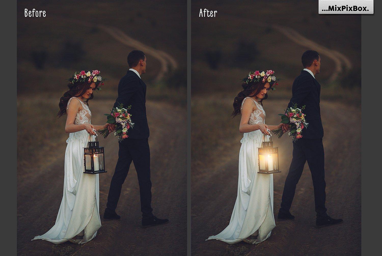 Lamp Light Photo Overlays example image 3