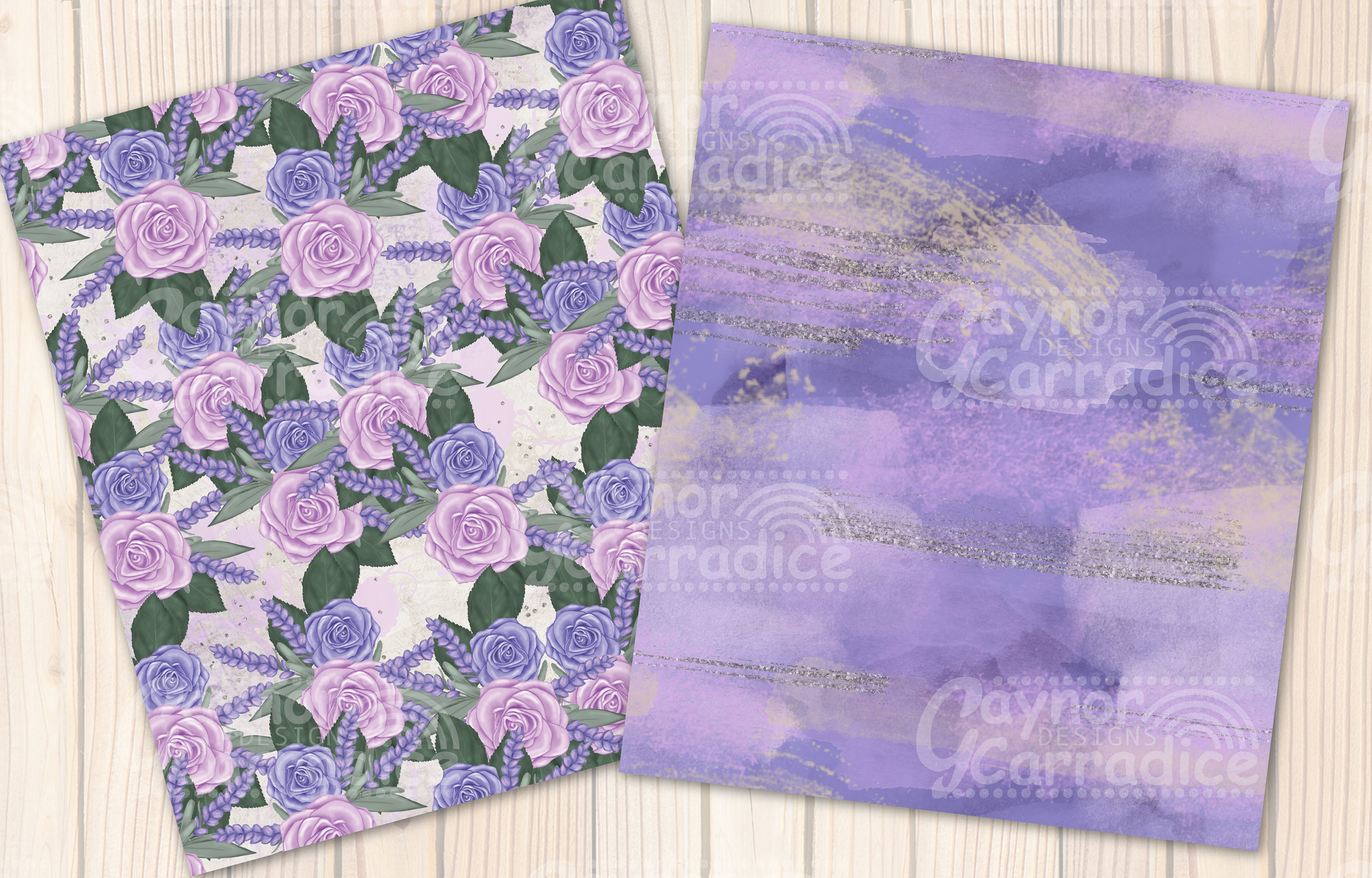 Provence - lavender Seamless Pattern collection example image 3