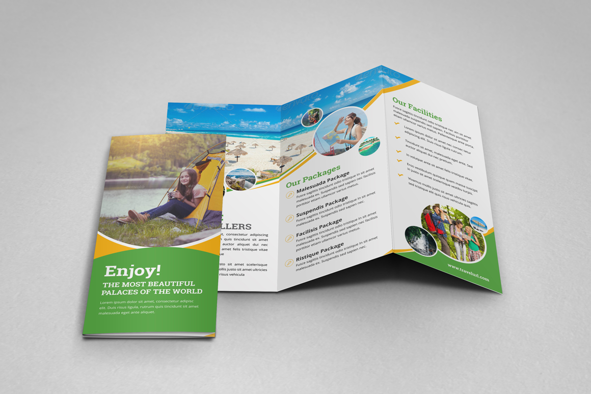 Holiday Travel Bifold & Trifold Brochure v2 example image 11